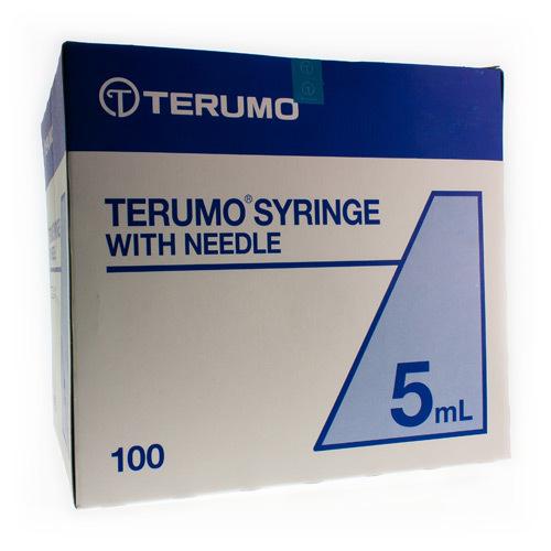 Image of Terumo spuit luer 5ml + 21G-naald