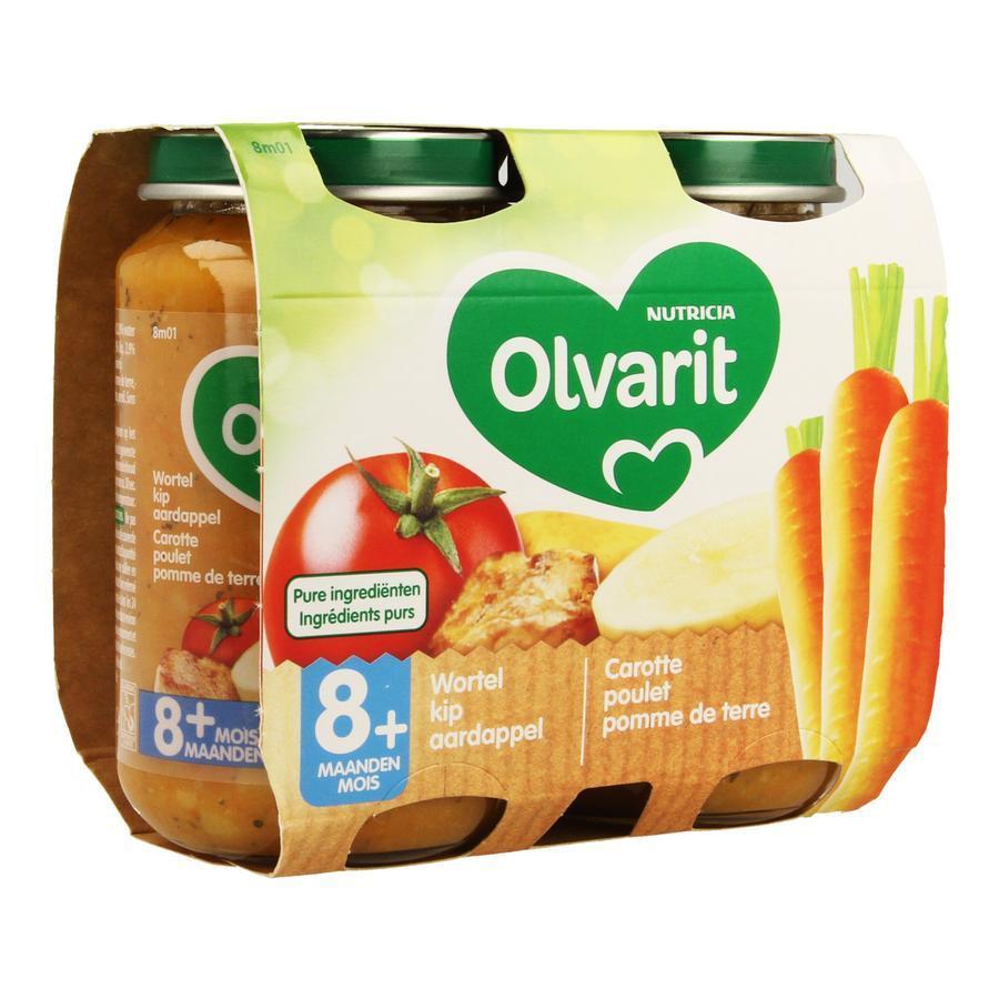 Image of Olvarit carotte poulet pomme de terre 8 mois+