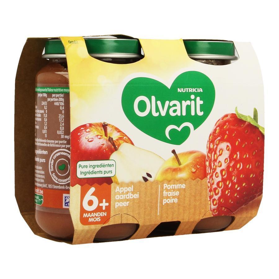 Image of Olvarit compote pomme fraise poire 6 mois+