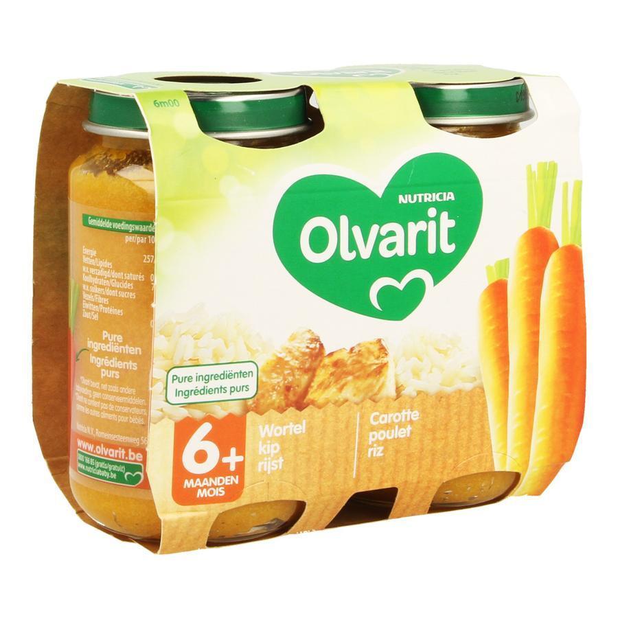 Image of Olvarit carotte poulet riz 6 mois+