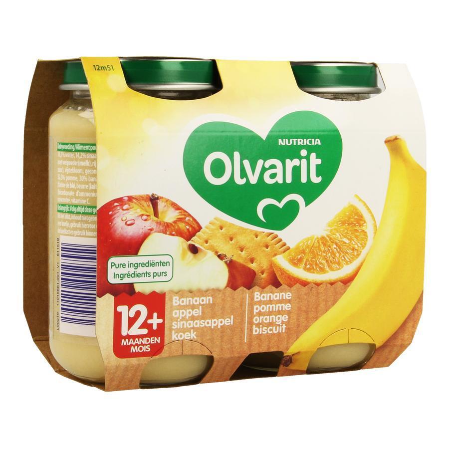 Image of Olvarit banane pomme orange biscuit 12 mois+