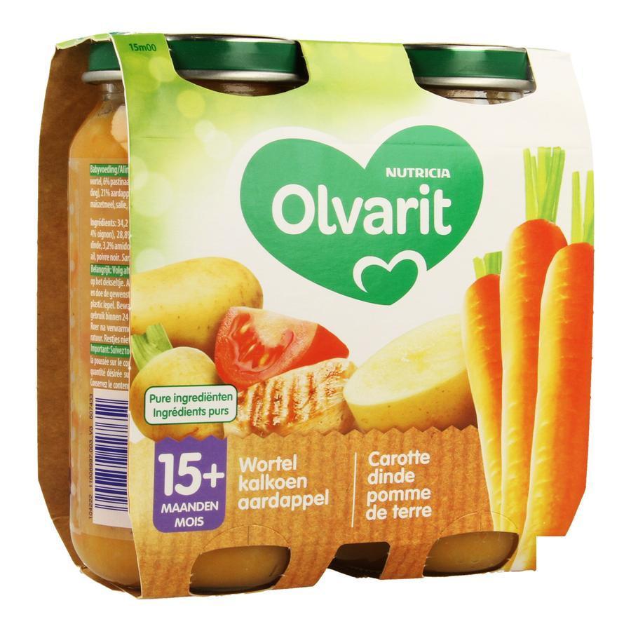 Image of Olvarit carottes dinde pomme de terre 15 mois+