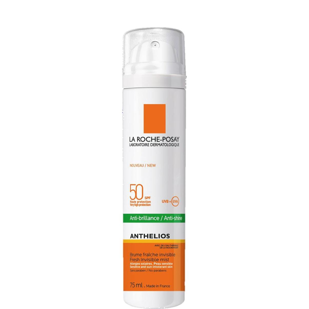 Image of La Roche-Posay Anthelios 50+ Zonnespray gelaatsnevel dry touch