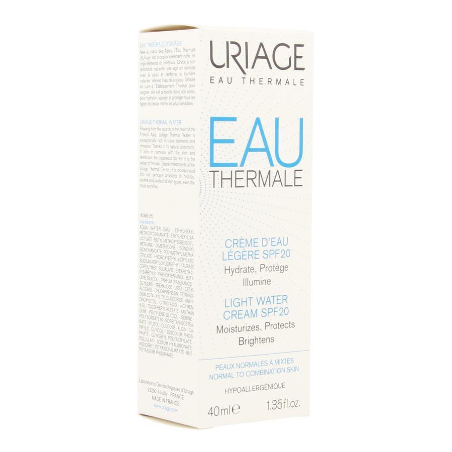 Image of Uriage Eau thermal Watercrème légère SPF20