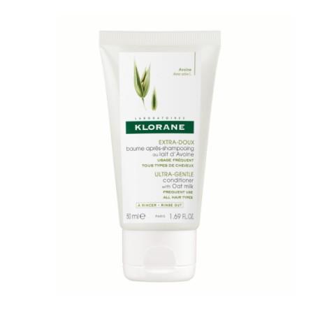 Image of Klorane baume après-shampooing au lait d'avoine format voyage