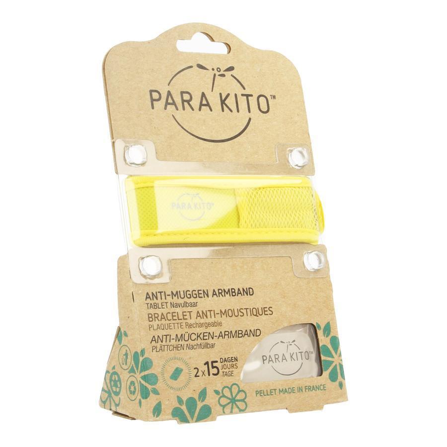 Image of Parakito Anti-Muggen Armband Groot Model geel