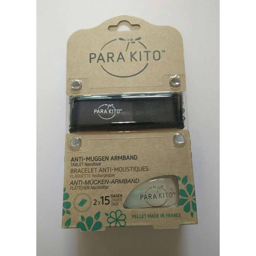Image of Parakito Anti-Muggen Armband Groot Model zwart
