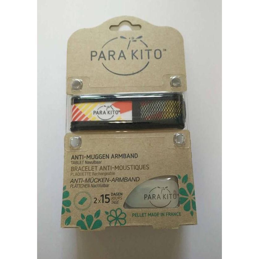 Image of Parakito Anti-Muggen Armband Graffic Groot Model zwart