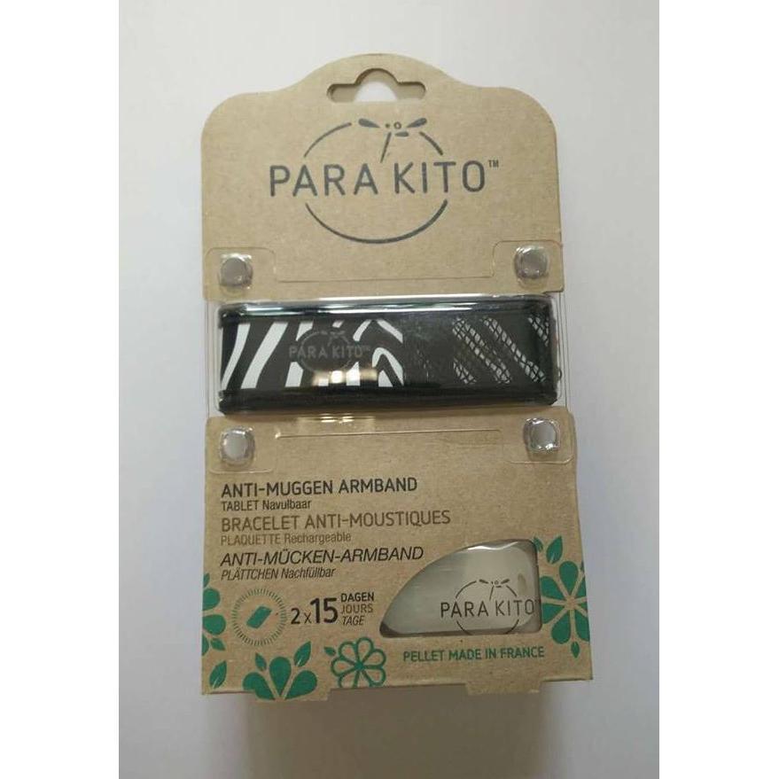 Image of Parakito Anti-Muggen Armband Graffic Groot Model zebra