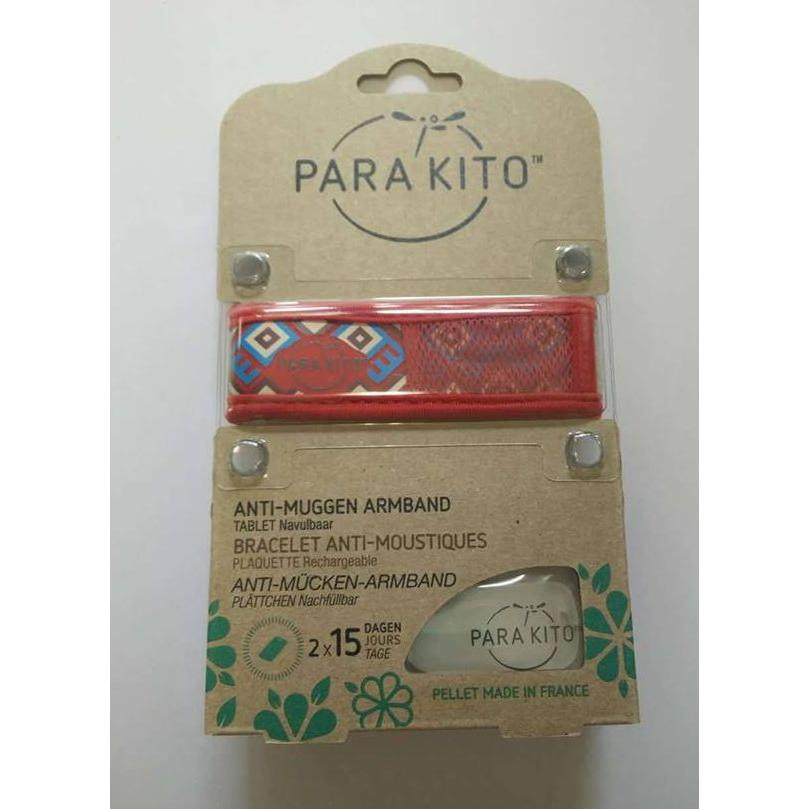 Image of Parakito Anti-Muggen Armband Graffic Groot Model rood