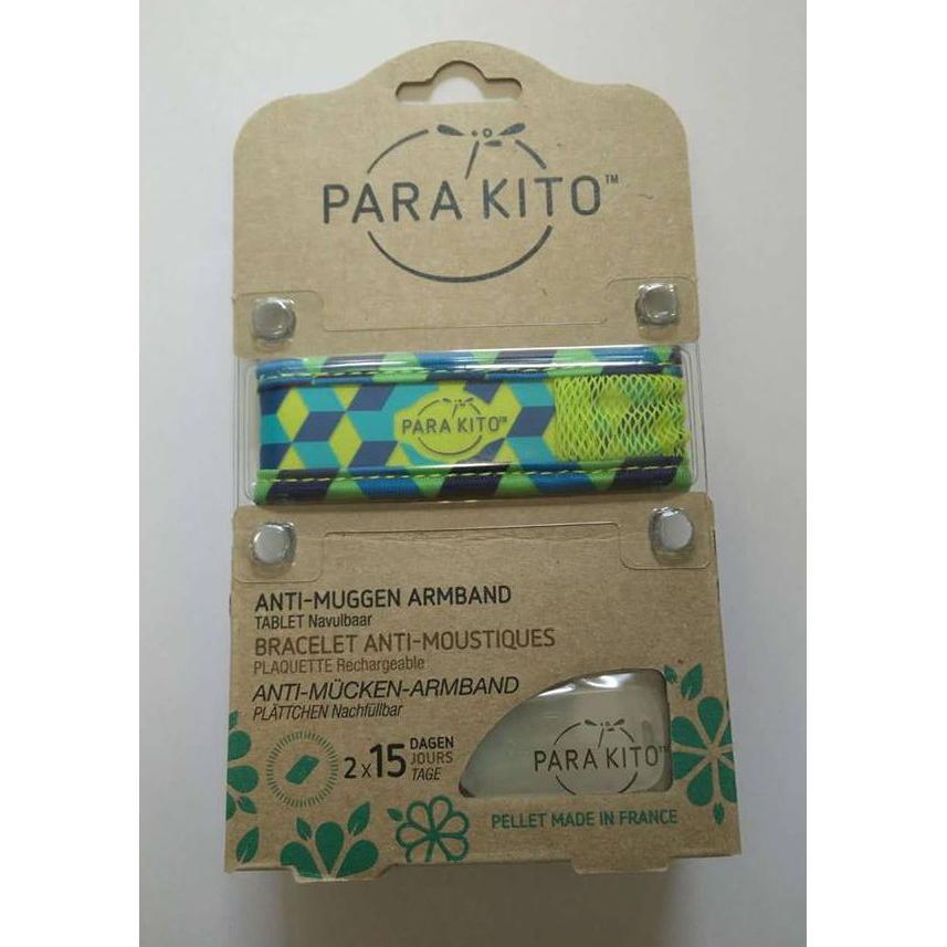 Parakito Anti-Muggen Armband Graffic Groot Model groen-blauw