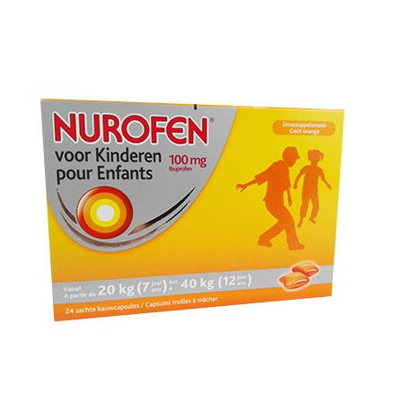 Image of Nurofen Kind 100mg Kauwcapsules