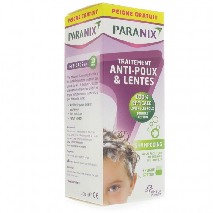 Image of Paranix shampooing traitant + peigne