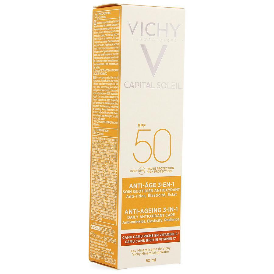 Image of Vichy Capital Soleil Anti-Age 3-in-1 SPF50