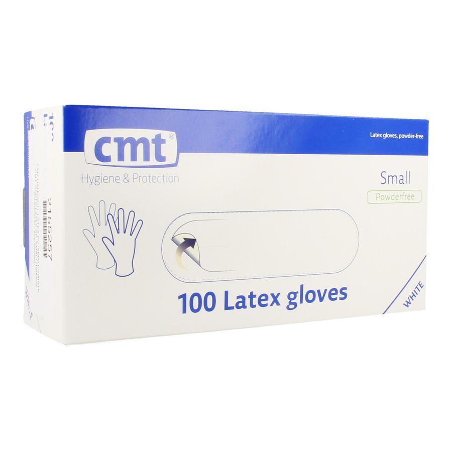 Texa witte latex handschoen S