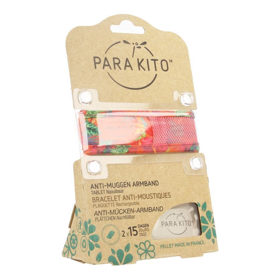 Image of Parakito bracelet anti-moustique graffic grand modèle rose-fleurs