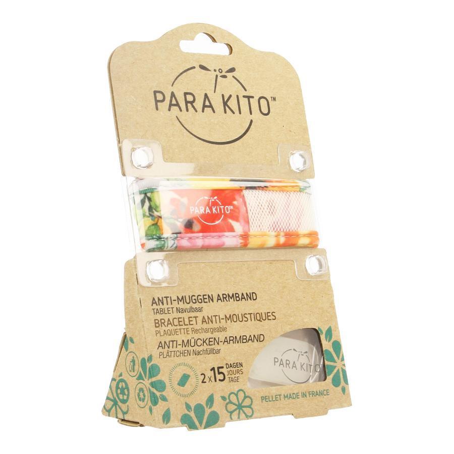 Image of Parakito bracelet anti-moustique graffic grand modèle blanc-fleurs