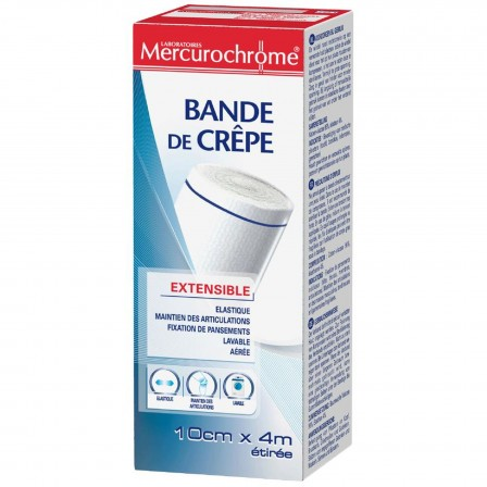 Image of Mercurochrome Crèpe windel 10cmx4m