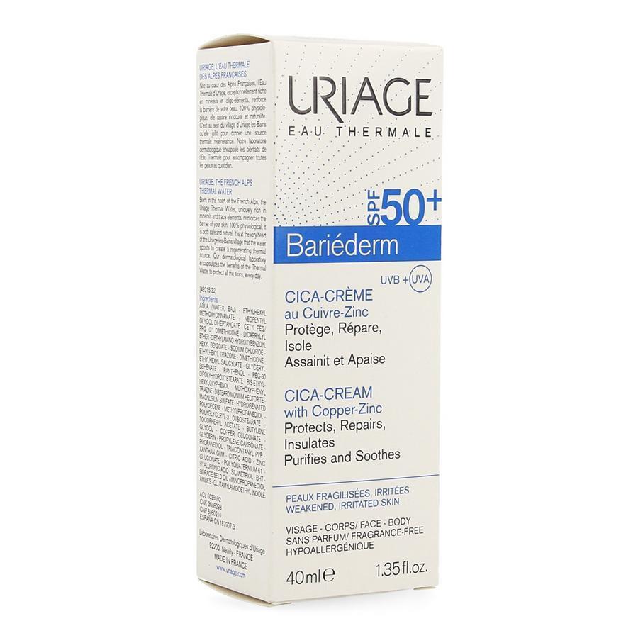 Image of Uriage Bariéderm cica-crème SPF50+