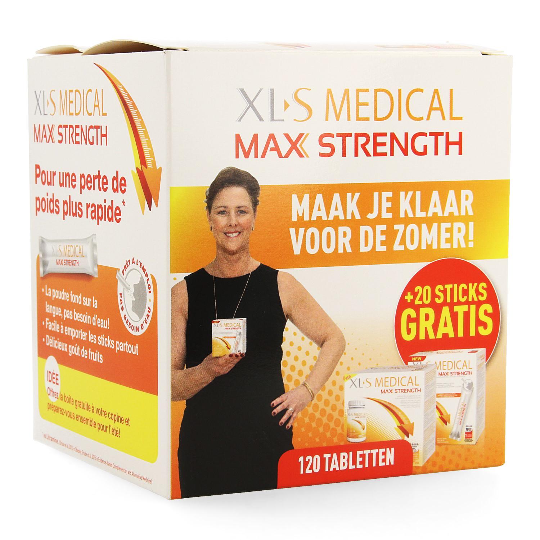 XLS Medical Max Strength 120 tabletten + 20 sticks gratis