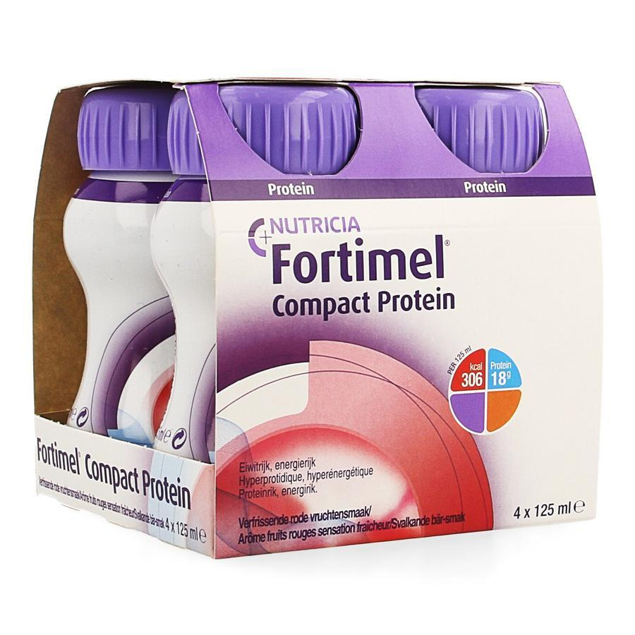 Image of Fortimel Compact Protein fruits rouges sensation fraîcheur
