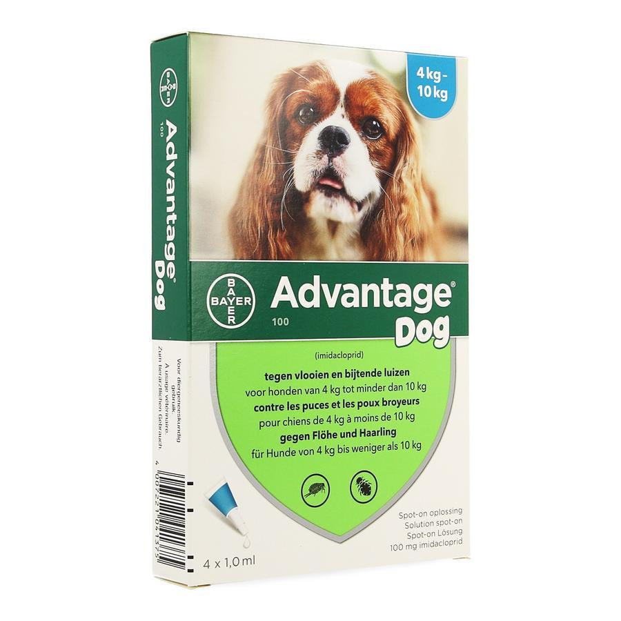 Image of Advantage 100 Chiens 4<10kg Spot-on