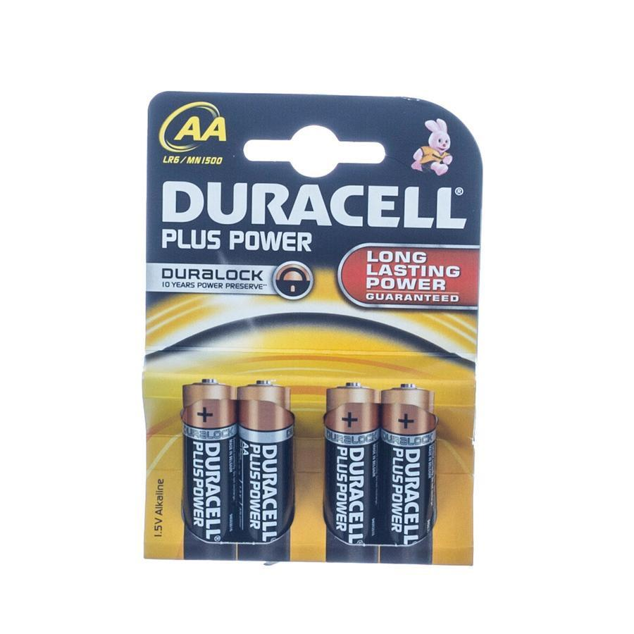 Duracell Batterijen AA Plus Power Duralock LR6 4 Stuks