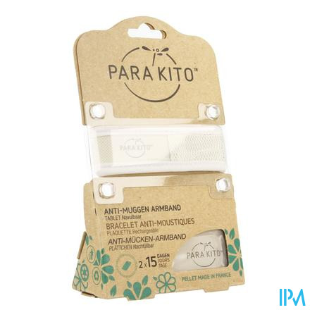 Image of Parakito Anti-Muggen Armband Groot Model wit