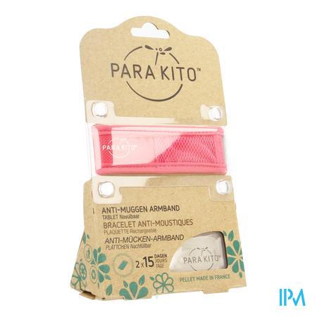 Image of Parakito Anti-Muggen Armband Groot Model roos