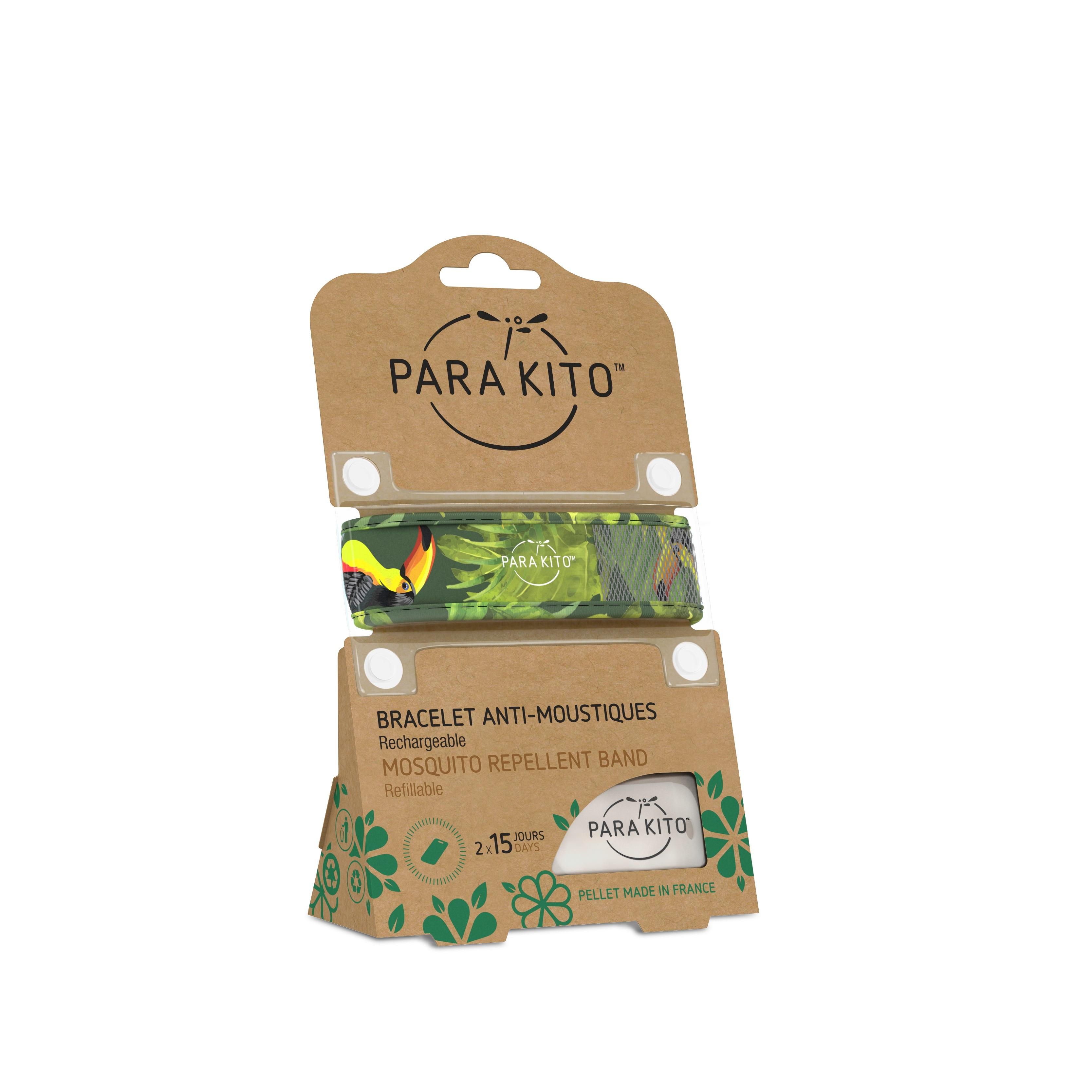 Image of Parakito Anti-Muggen Armband Groot model tropical