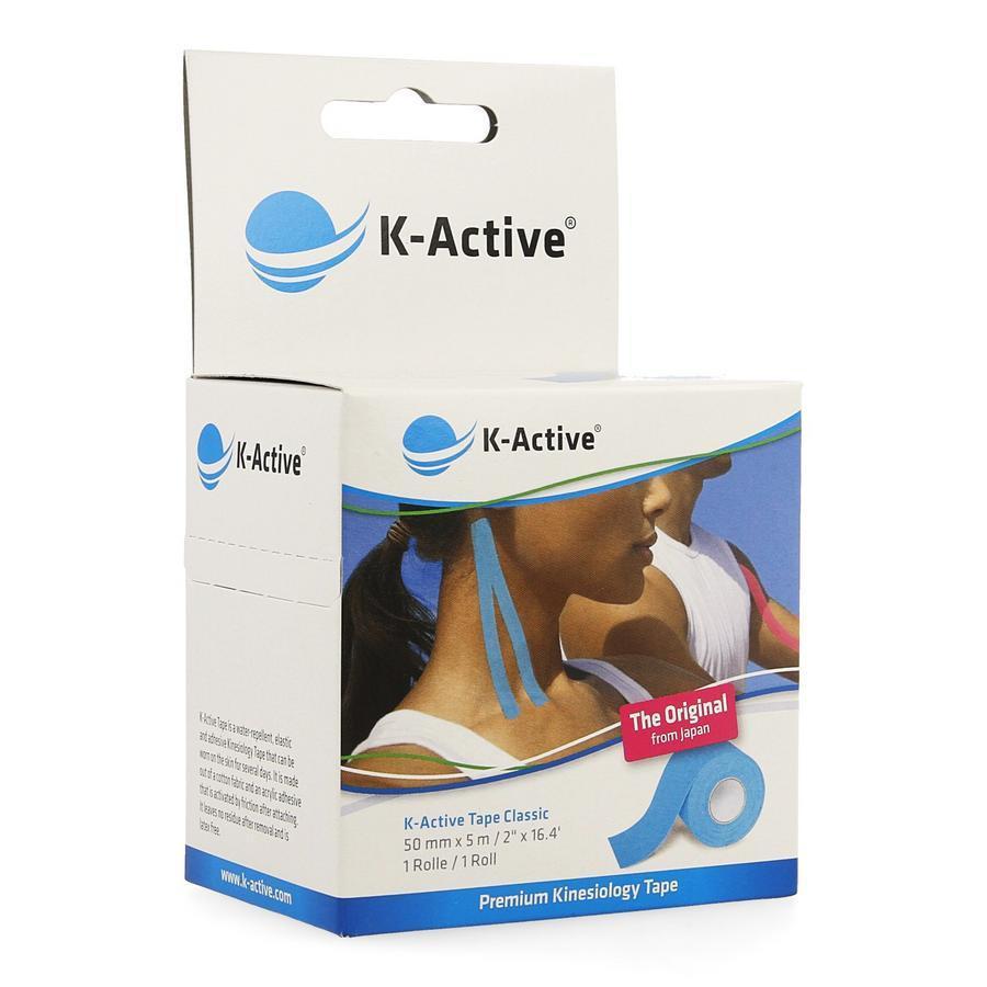 Image of K-Active Tape Classic Blauw 5cmx5m
