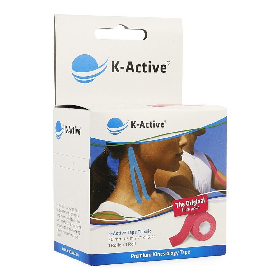 Image of K-Active Tape Classic Roze 5cmx5m