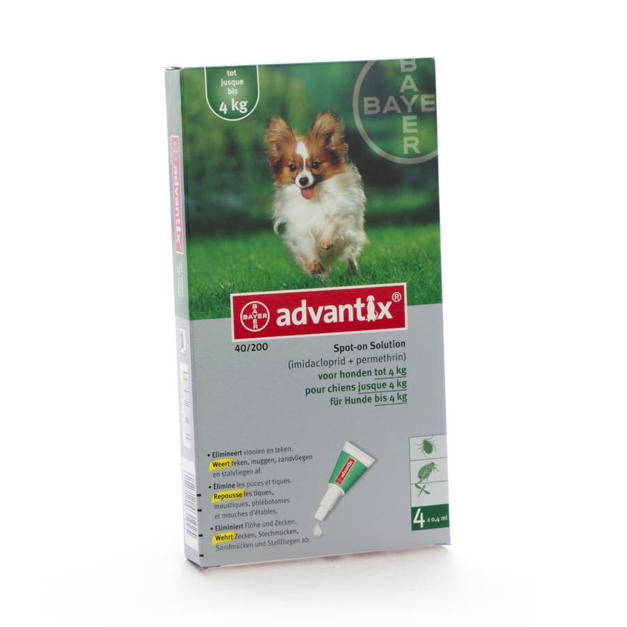 Advantix 40-200 voor honden 4 pipetten