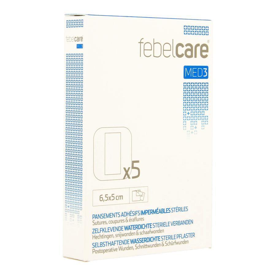 Image of Febelcare Med3 zelfklevende waterdichte steriele verbanden 6,5x5,0cm