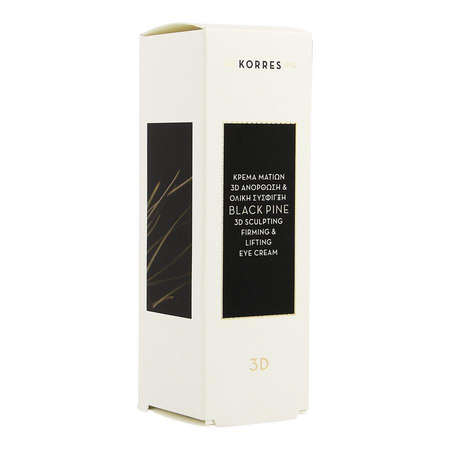 Image of Korres 3D crème pour les yeux sculptante, raffermissante & liftante au pin noir