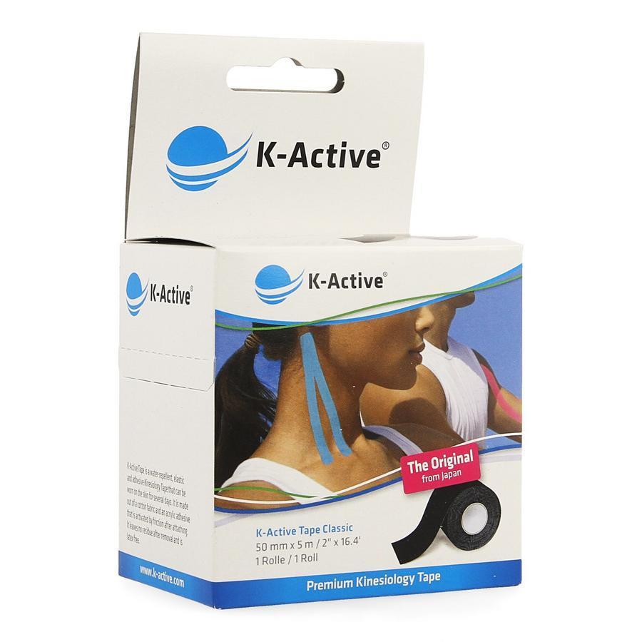Image of K-Active Tape Classic Zwart 5cmx5m