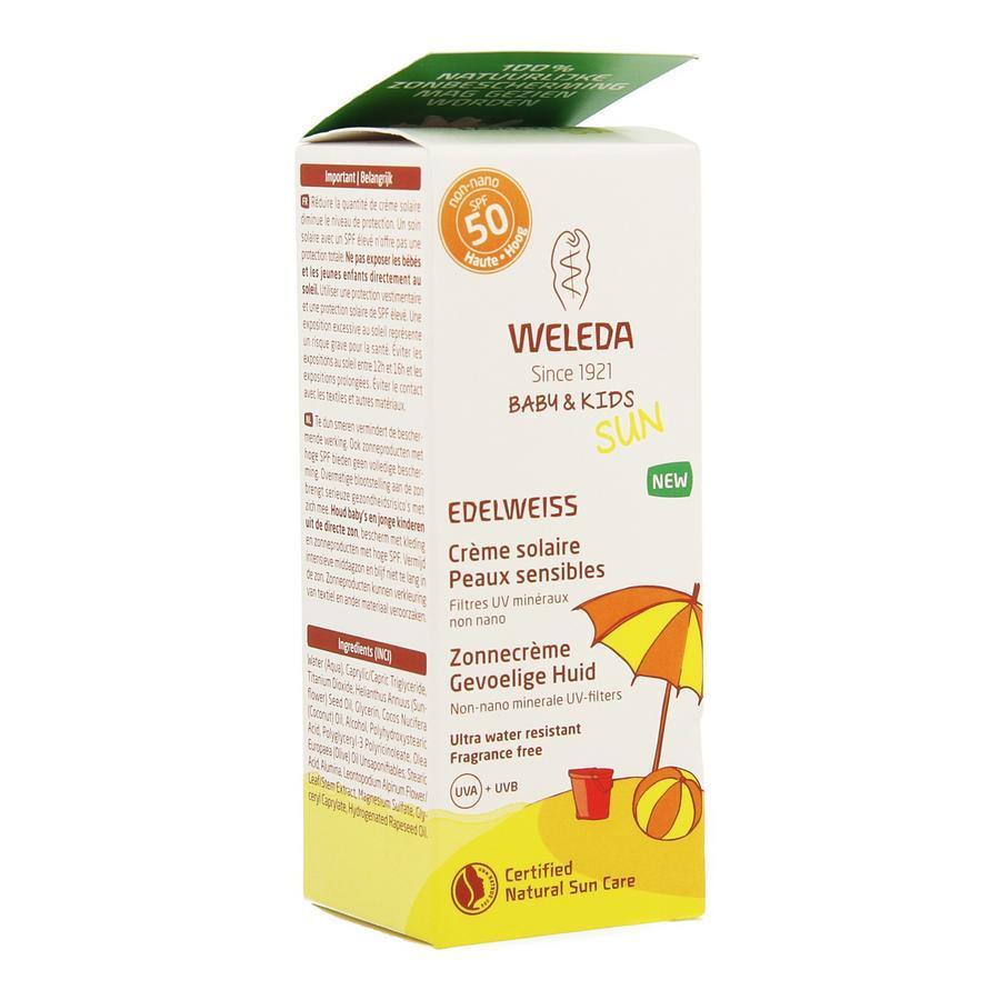 Image of Weleda Edelweiss Zonnecreme Gevoel.huid Ip50+ 50ml