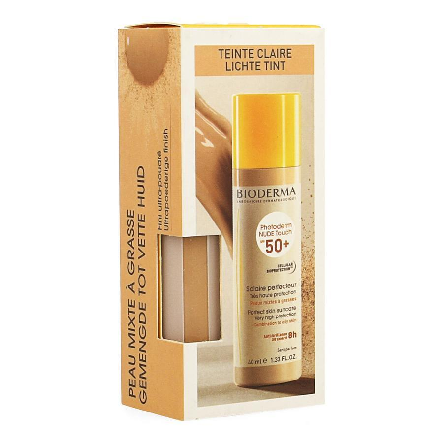 Image of Bioderma Photoderm Nude Touch SPF50+ Lichte tint