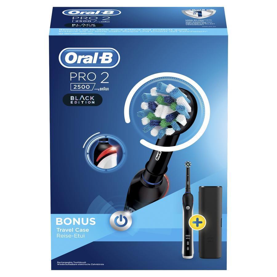 Image of Oral-B Pro 2 Elektrische tandenborstel met reisetui Zwart