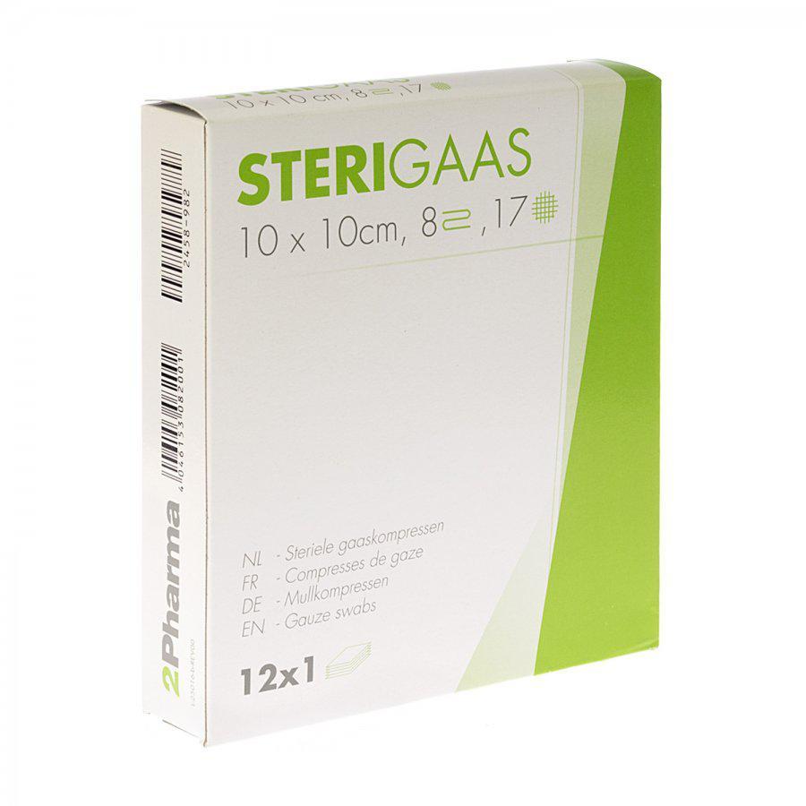 Image of Sterigaas kompressen 10x10cm