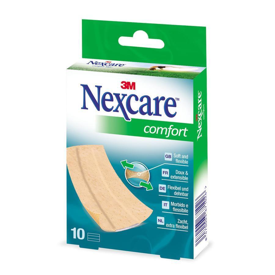 3m Nexcare Comfort Strips Band 10x6cm Huidskleur 1meter