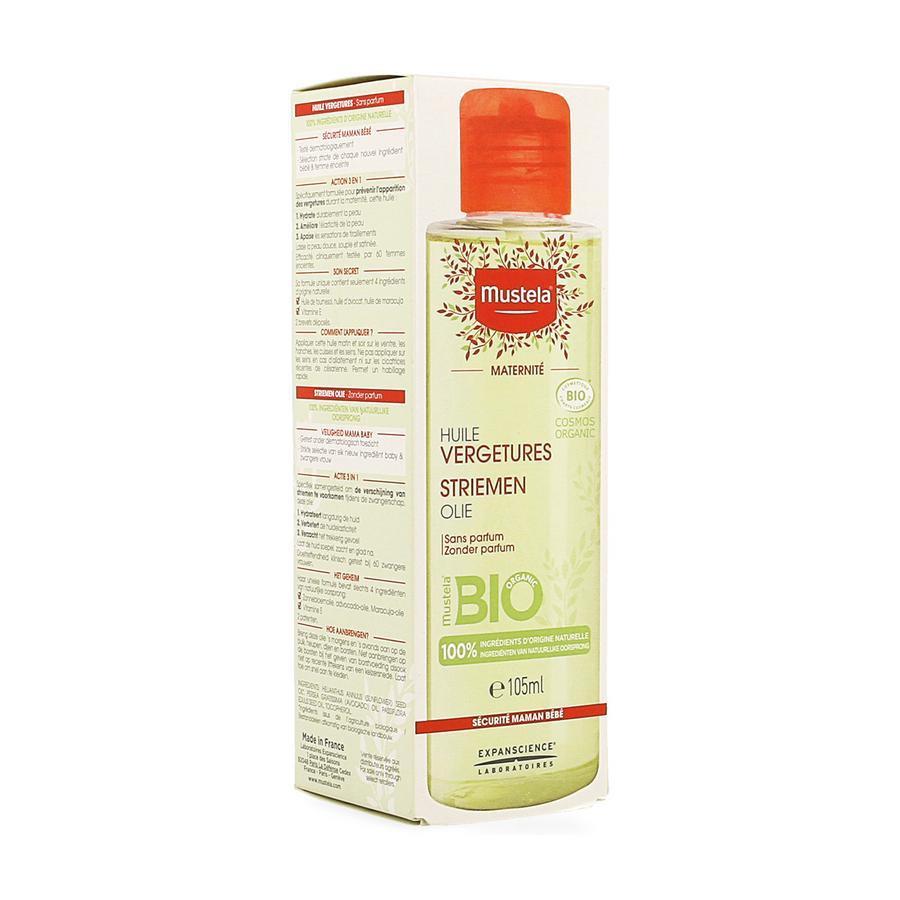 Image of Mustela Maternité huile vergetures bio