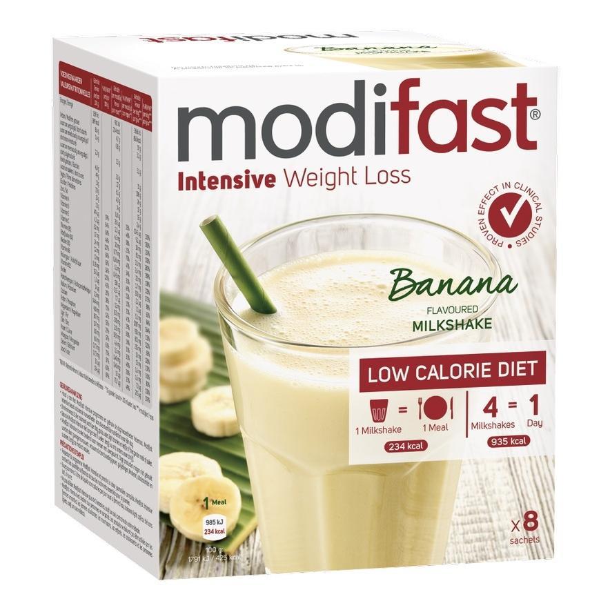 Image of Milk-shake intensif Modifast à la banane