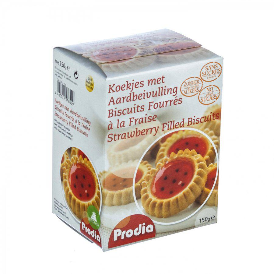 Image of Prodia biscuits fourrés à la fraise