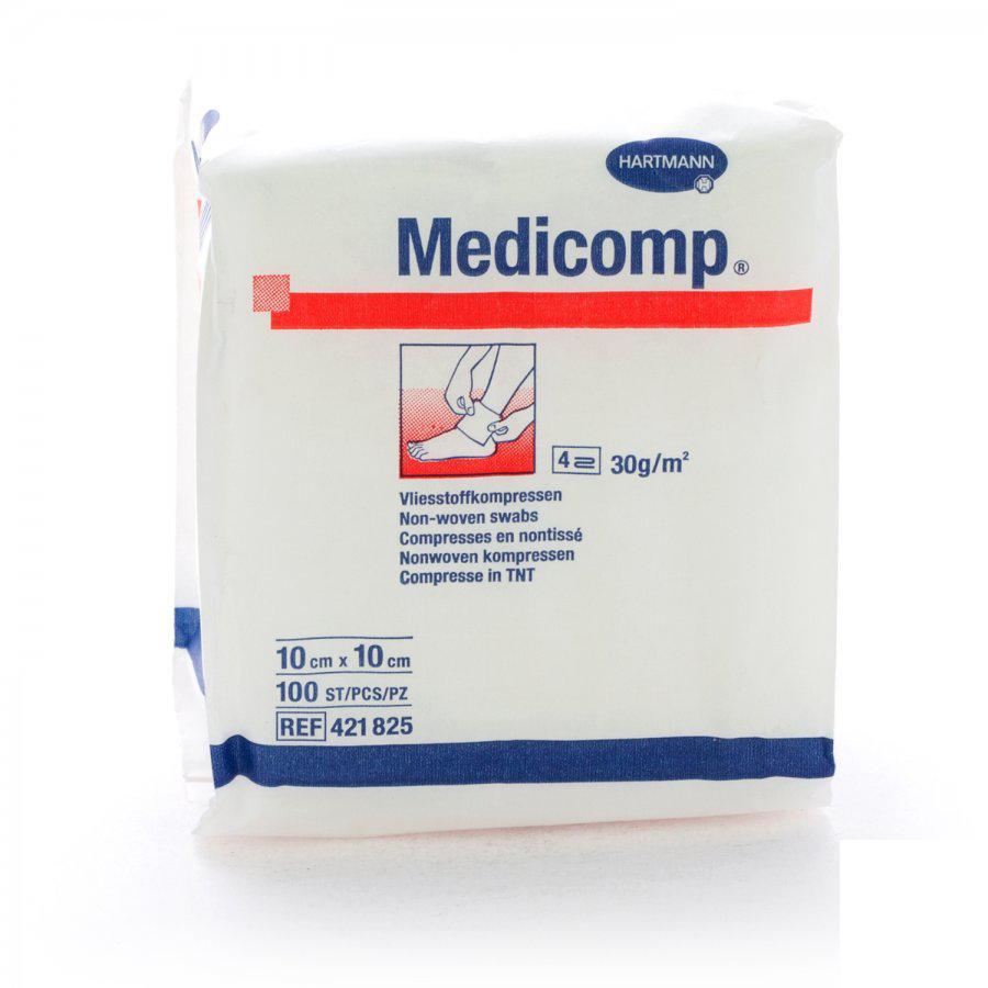 Medicomp Non Woven Komp 10x10 100st