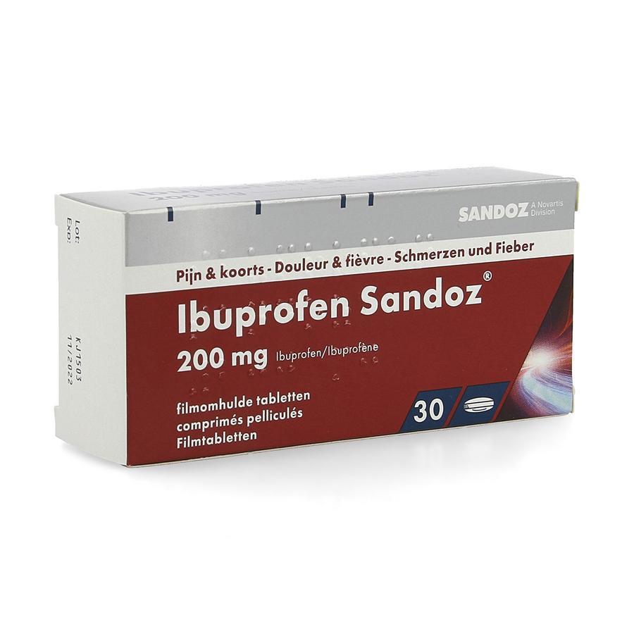 Image of Ibuprofen Sandoz 200mg