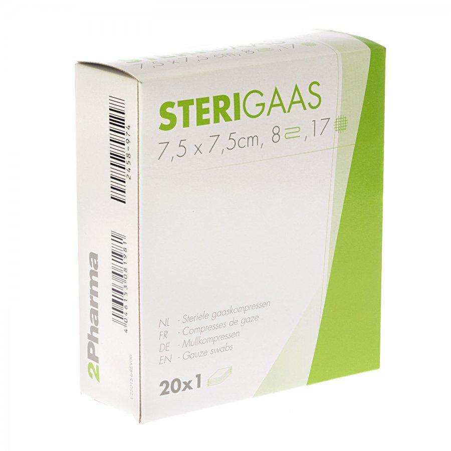 Image of Sterigaas kompressen 7,5x7,5cm