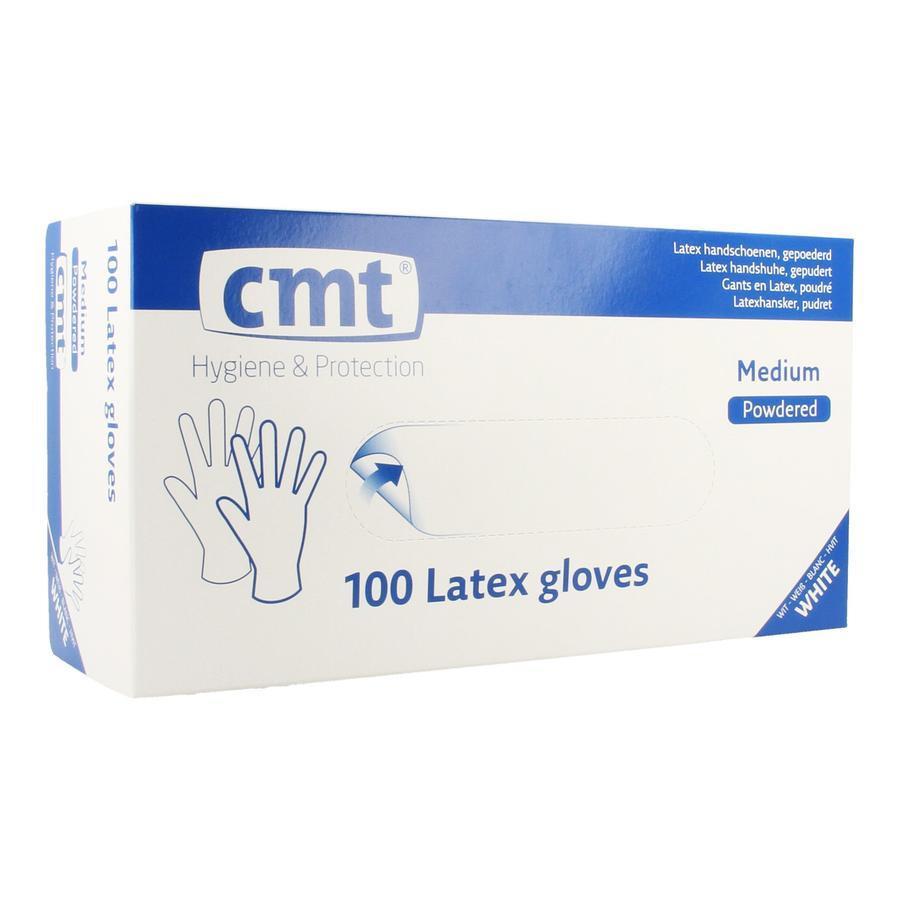 Texa witte latex handschoen gepoederd M