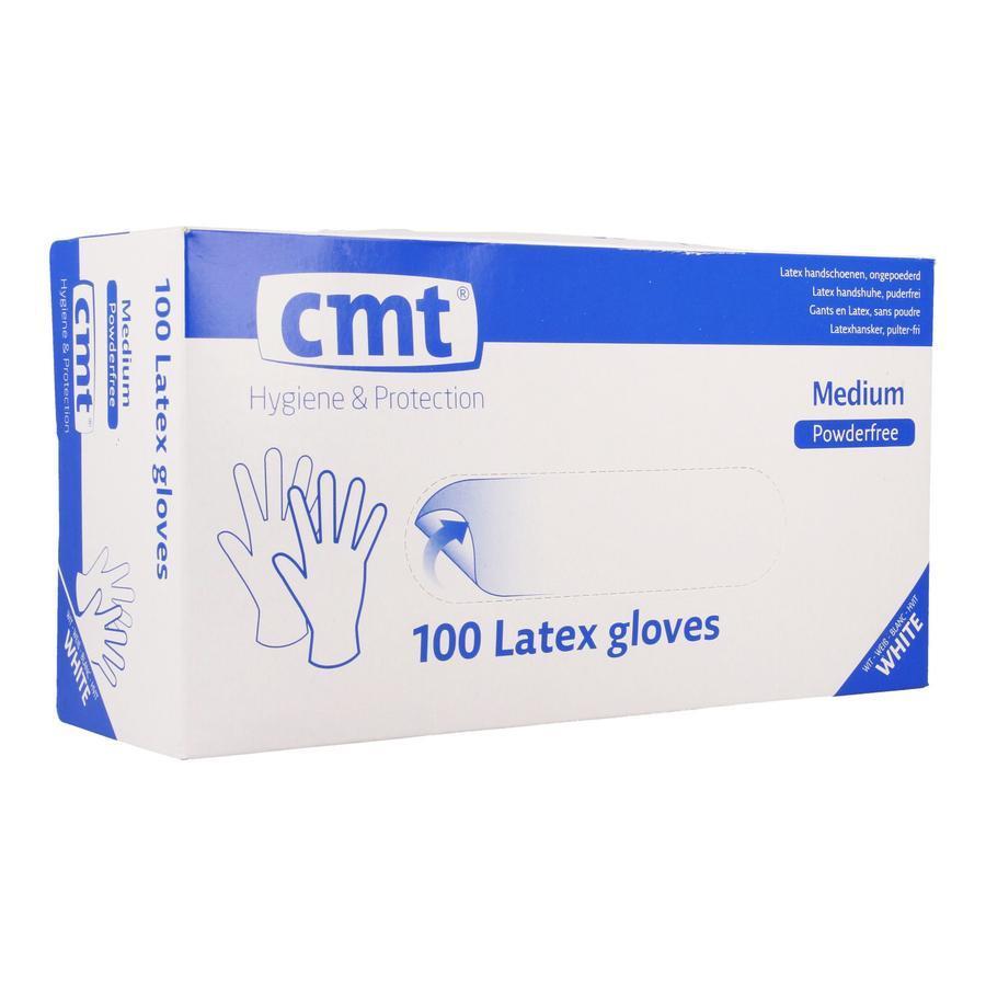 Texa witte latex handschoen M