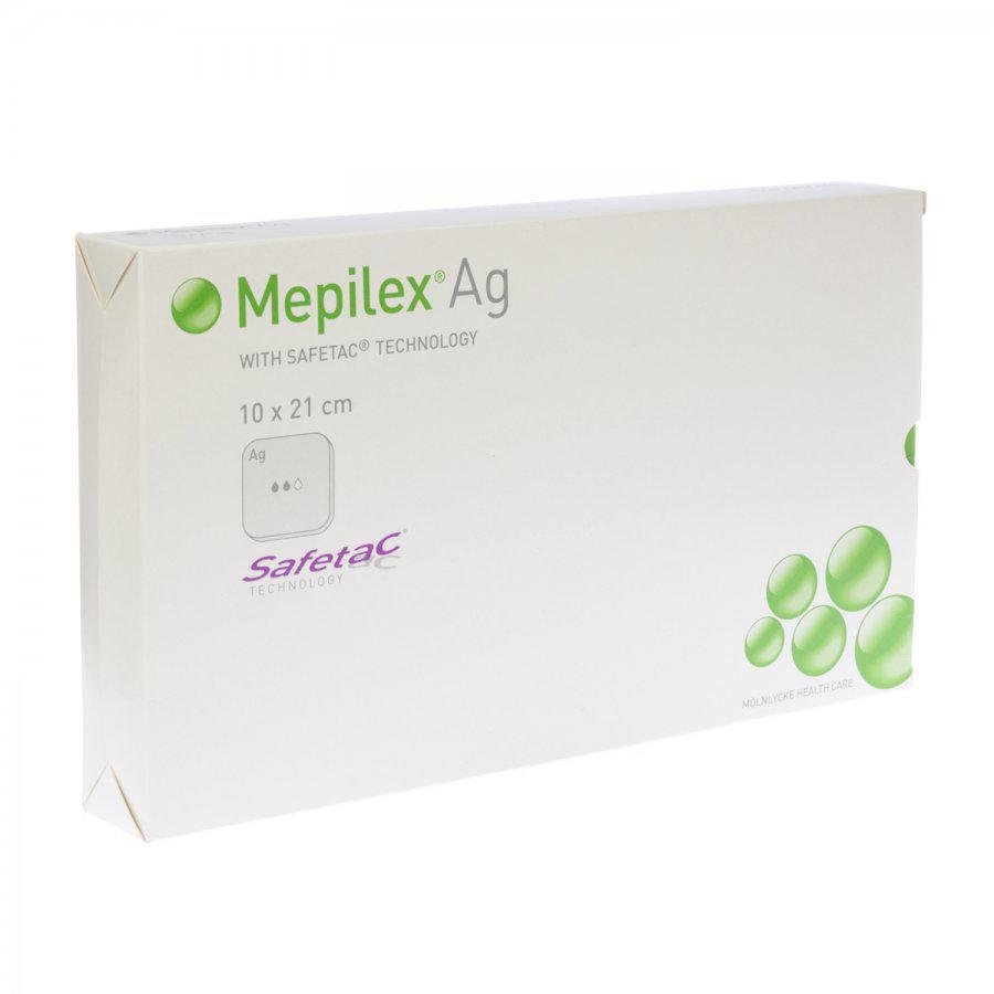 Image of Mepilex Ag pansement 10cmx21cm